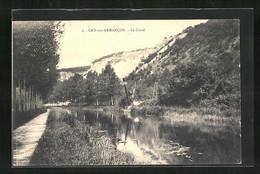 CPA Cry-sur-Armancon, Le Canal, Uferpartie Am Kanal - Unclassified