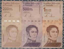Venezuela 200mil ; 500mil And 1M 2020 / 2021 UNC - Venezuela