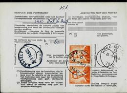 Doc De La Poste N° 965 : Obl. HERK - DE - STAD - E - ( 3910 ) Du 26/09/74 - 1953-1972 Brillen