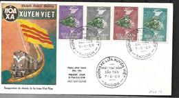 VIETNAM     FDC  Du 07 .8 1959 à Saigon  Inauguration Duchemin De Fer  Trans Vietnam - Vietnam