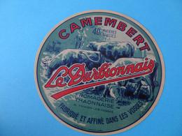 Etiquette De Camembert Le Durbionnais Fromagerie Thaonnaise Thaon Les Vosges 88 - Cheese