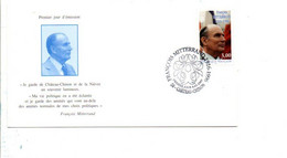 CARTE MAXIMUM FRANCOIS MITTERRAND CHATEAU CHINON NIEVRE 1997 - 1990-99