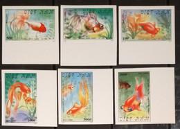 Vietnam Viet Nam MNH Imperf Stamps 1990 : Goldfish / Gold Fish / Fishes (Ms587) - Vietnam