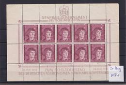 Generalgouvernement (GG) Kopernikus, **, Kleinbogen II/1,Leerfelder, Bug, 104KLB - Bezetting 1938-45