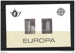 BELGIUM EUROPA CEPT BLACK AND WHITE SHEET YEAR 1987 . (CL1 J84) - Zwarte/witte Blaadjes