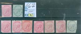 38-39 Lot (x) Côte € - 1869-1883 Leopoldo II