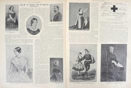 Chez Mme La Comtesse Lionel De Chabrillan (Céleste Mogador) - Le Comte De Chabrillan - Page Originale Double 1899 - Documents Historiques