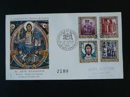 FDC Art Roman Arte Romanico St-Jacques De Compostelle Santiago Compostela 1961 Cons. De Europa Espagne Spain Ref 778 - FDC