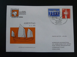 Lettre Cover World Postal Congress Hamburg 1984 Germany Ref 779 - Storia Postale