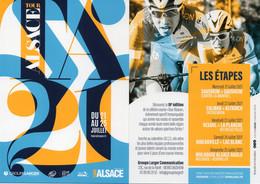 Cyclisme, Carte Du Tour D'Alsace 2021, Scan Recto Verso - Cycling