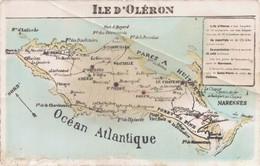 17 ILE D'OLERON CARTE GEOGRAPHIQUE - Ile D'Oléron