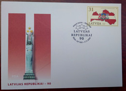 LATVIA 2008-  90th Anniversary Of Latvia Republic - MNH - FDC - Lettonie