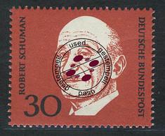 556 Robert Schuman 30 Pf Aus Block 4 Adenauer O - Ohne Zuordnung