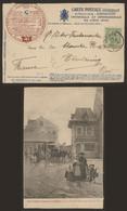Carte Postale - Vieux Liège (Exposition 1905) : L.A. N°41 + Talon Réponse Détaché - Lüttich