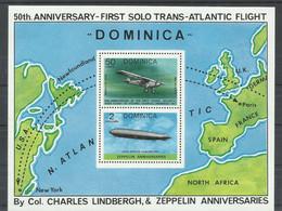 DOMINICA  YVERT   H/B  48   MNH  ** - Zeppelins