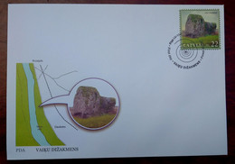Latvia -  Stone  Protected Nature Objects 2008  FDC - Lettonie