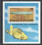 COTE D,IVORE    YVERT   H/B   38   MNH  ** - Zeppelins