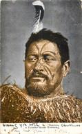 New-Zealand - A Tatooed Maori Warrior - Nieuw-Zeeland