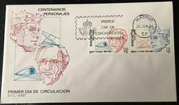 España Spain 1984 Centenarios Personajes.Alfonso X El Sabio. Ignacio Barraquer. - FDC
