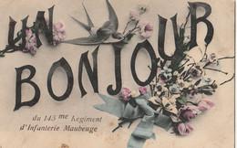 MAUBEUGE  Un Bonjour Du 145è Régiment D'Infanterie - Maubeuge