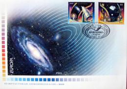 Latvia 2009 Europa  CEPT - Astronomy  -  Stamps Full Set FDC - Lettonie