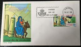 España Spain 1984 XVI Centenario Viaje Monja Egeria Oriente Biblico - FDC