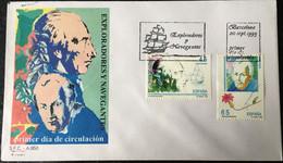 España Spain 1993 Exploradores Y Navegantes. Malaspina Y Celestino Mutis - FDC