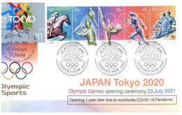 (VV 3 A) 2020 Tokyo Summer Olympic Games Opening Ceremony 23-7-2021 With Tokyo Olympic Stamp (over 2000 FDC) - Zomer 2020: Tokio