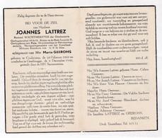 RIJKSWACHTER Wachtmeester Der Gendarmerie J.LATTREZ °KOOLSKAMP 1869  +GENTBRUGGE 1948 (M.GEEROMS) - Images Religieuses