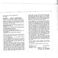 M. VERHOEST °ARDOOIE 1921  +ROESELARE 1978 Lid Verbroedering RIJKSWACHT (M.ANSEEUW) - Images Religieuses