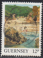 GUERNSEY   SCOTT NO  372  USED   YEAR  1987 - Guernesey