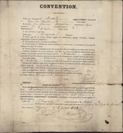 Convention De Remplacement Après Tirage Au Sort Contrat De Substitution Remplaçant 2 JUILLET 1841 Service Militaire - 1801-1848: Precursors XIX