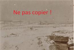 PHOTO ALLEMANDE - RESEAUX DE BARBELES SOUS LA NEIGE A SAINT MIHIEL PRES DE HANS SUR MEUSE- GUERRE 1914 - 1918 - 1914-18