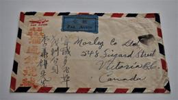 China Chine 1946 Cover Canton To Canada - 1912-1949 República
