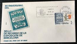 España Spain 1979 Sello De Recargo De La Exposicion De Barcelona - FDC