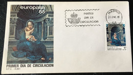 España Spain 1985 Europalia 85 - FDC