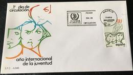 España Spain 1985 Año Internacional De La Juventud. - FDC