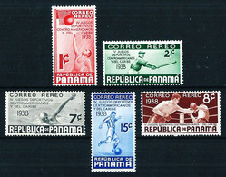 Panamá Nº A-36/40**/* Cat.22,50€ - Panama