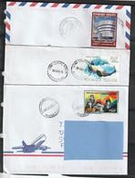 Z3] 3 Enveloppes Circulées 3 Circulated Covers Togo Rolling Stones Porsche 911 Musée Guggenheim Museum - Togo (1960-...)