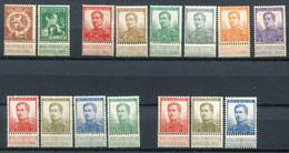Restant Verzameling 15 Zegels Tussen Nrs 109 En 155 Zie Scans Voor Kwaliteit  ** / *  - Cote + 50 Euro - 1912 Pellens