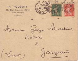 DAGUIN PARIS 113 Hôtel De Ville Triple Frappe (foulages) Oblitération / SEMEUSE Lettre De 1918 SUP! - 1877-1920: Période Semi Moderne