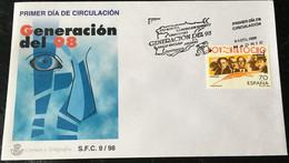 España Spain 1998  Generacion Del 98 - FDC