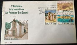 España Spain 1978 V Centenario De La Fundacion De Las Palmas De Gran Canarias. - FDC