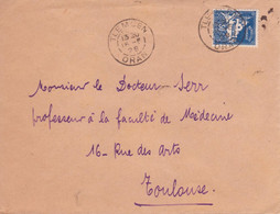 Algérie DAGUIN Solo (traces De Foulage) TLEMCEN / ORAN 1928 Oblitération Timbre Mosquée Lettre > Toulouse - Lettres & Documents
