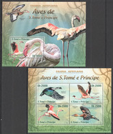 AA420 LAST ONE IN STOCK 2013 S. TOME E PRINCIPE FAUNA AFRICANA BIRDS AVES KB+BL MNH - Marine Web-footed Birds