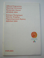 2004 Athens Paralympic Games, OPENING CEREMONY OFFICIAL PROGRAMME - Bücher