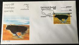 España Spain 1988 Expo-88 Brisbane Australia - FDC