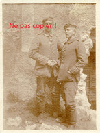 PHOTO ALLEMANDE KB IR 14 - SOLDATS ET CROIX DE FER A APREMONT LA FORET PRES DE SAINT MIHIEL MEUSE GUERRE 1914 - 1918 - 1914-18