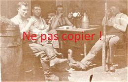 PHOTO ALLEMANDE KB IR 14 - SOLDATS AU REPOS A APREMONT LA FORET PRES DE SAINT MIHIEL MEUSE GUERRE 1914 - 1918 - 1914-18