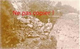 PHOTO ALLEMANDE KB IR 14 - OFFICIERS DANS UNE TRANCHEE A APREMONT LA FORET PRES DE SAINT MIHIEL MEUSE GUERRE 1914 - 1918 - 1914-18